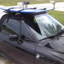 Gutterless surfboardd roof rack